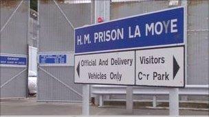 La Moye Prison sign