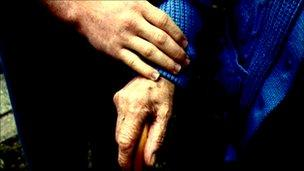 Older person's hand