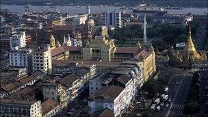 Rangoon skyline (2002)