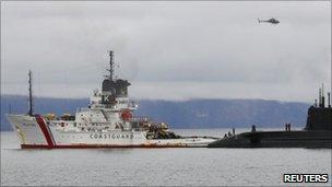 Anglian Prince with HMS Astute