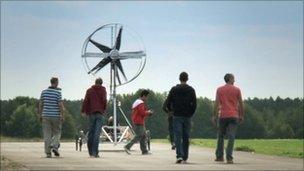 Wind-powered car