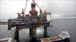 North Sea oil platform