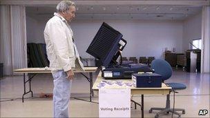 Voter in Nevada