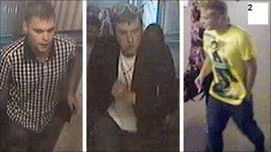 Andy Wicks attack CCTV images