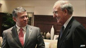 King Abdullah and George Mitchell