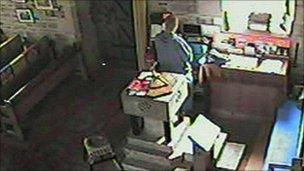 CCTV of Michael Carey