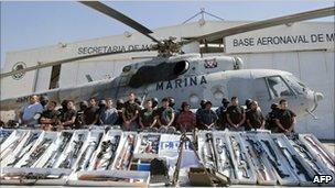 Alleged Gulf cartel members