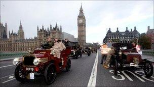 Humber Tonneau in the London to Brighton Veteran Car Run