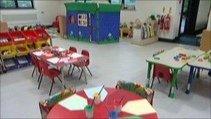 Classroom interior at the new Cheriton Fitzpaine School