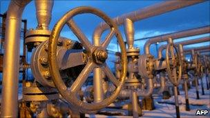 Gas pipes on the Russia-Ukraine border which supply Europe
