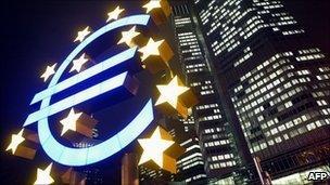European Central Bank building in Frankfurt