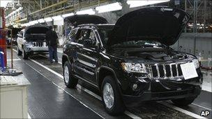 Chrysler Jeep Grand Cherokee assembly line in Detroit