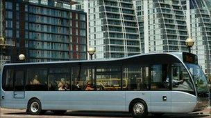 Buses similar to this one will operate along a Park and Ride route in Coventry