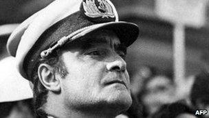 Emilio Massera in military uniform on 2 September 1977, file photo
