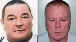 John Twomey (l) and Peter Blake