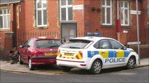 Police car crash in Hartlepool