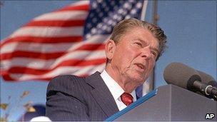 Ronald Reagan in 1991