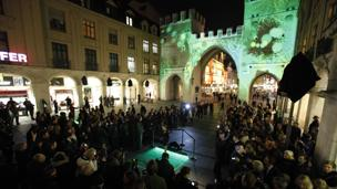 Crowds for the Kinect launch in Munich
