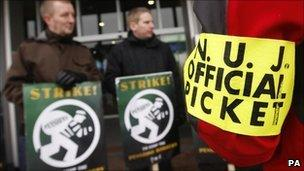 Picket at BBC Television Centre