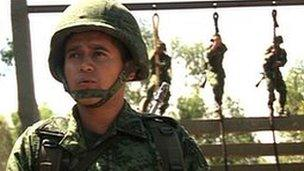 Carlos Vargas, Mexican army recruit