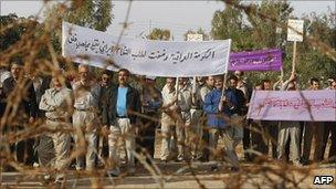 Protest at Camp Ashraf, North of Baghdad