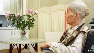 A patient in a hospice