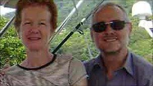 A picture of Paul and Rachel Chandler taken from their blog