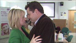 Maria Louise Connolly and Chris Hollins