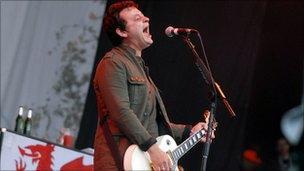 James Dean Bradfield performs at the Glastonbury Festival