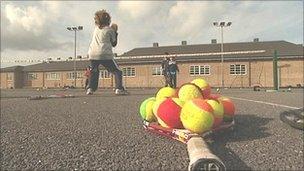 Tennis coaching at Cherry Hinton, Cambridgeshire