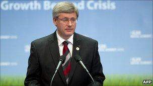 Canadian Prime Minister Stephen Harper