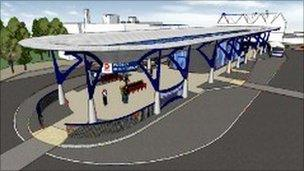 Pudsey's new bus station