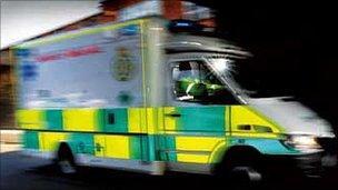 Moving ambulance