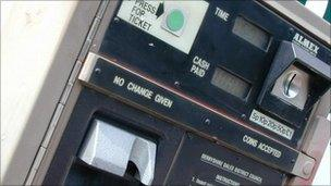 Pay and display ticket machine