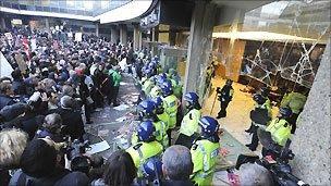 Millbank under siege
