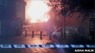 Fire at Battersea flats