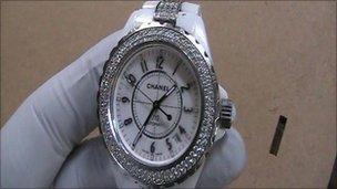 This Chanel watch was among items taken in the Broughton Hall raid