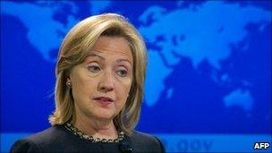 Hillary Clinton, file pic from November 2010