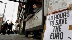 Dublin newspaper seller
