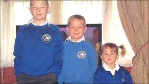 L-R William, Anthony (AJ) and Maddie Hudson