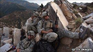 US troops in the Korengal Valley