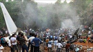 Aftermath of Air India plane crash in Mangalore on 22 May 2010