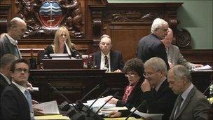 Councillors at meeting