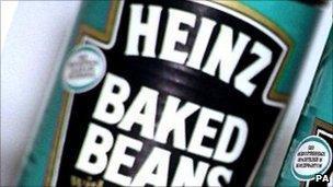 Heinz baked beans tin