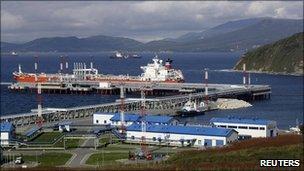 Oil terminal at Russia's Far-East port of Kozmino
