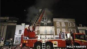 Fire crews tackle New Cross hostel fire