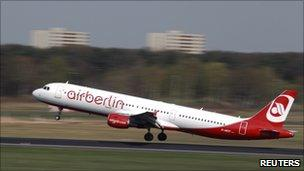 Air Berlin flight taking off from Tegel airport (file photo)
