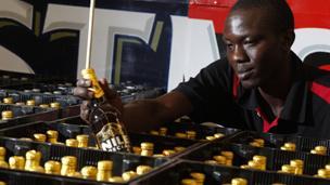 Worker at SABMiller's Nile Brewery in Uganda