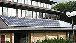 Powys council headquarters in Llandrindod Wells