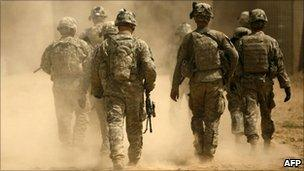 US soldiers serving under NATO in Afghanistan